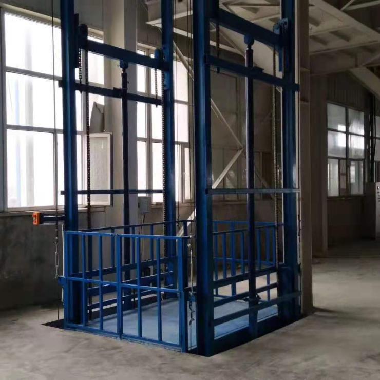 无锡2吨导轨式液压升降货梯,江苏升降货梯厂家直销