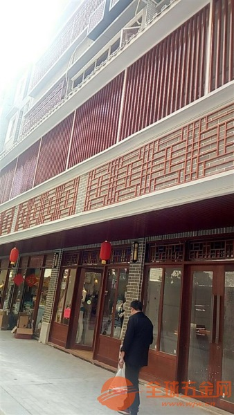 海宁艺术景区仿古铝花格窗定制厂家