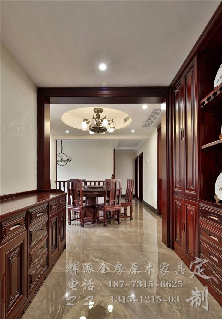 长沙实木全屋定制案例、实木书柜、背景墙定制自己设计