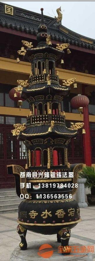 潮州宝鼎定制批发寺院道观铸铁宝鼎出厂直销无中间商差价
