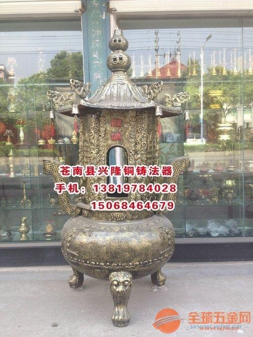云浮宝鼎定制铸铁二层铜宝鼎厂家宝鼎批发寺庙铸铁五层铜