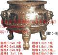 岳阳铸造香炉厂家铜香炉批发香炉价格寺庙铜铁香炉库存丰富价格合理