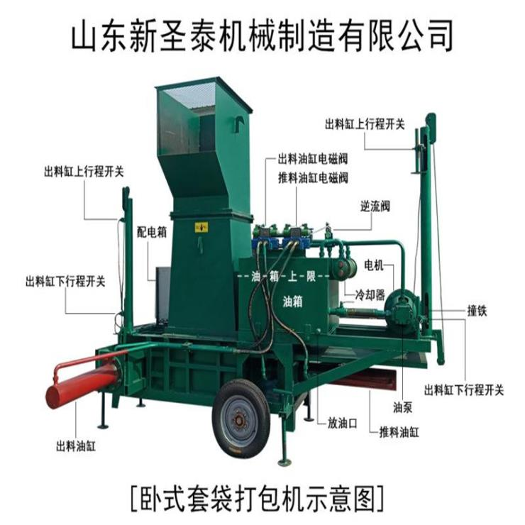 河南秸稈打包機 秸稈壓塊機