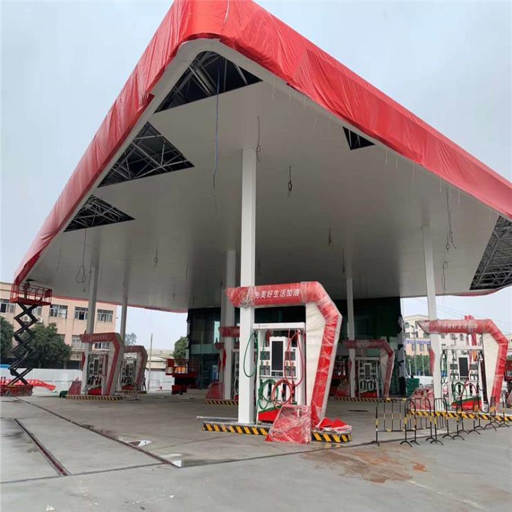 加油站顶棚防风铝条扣板