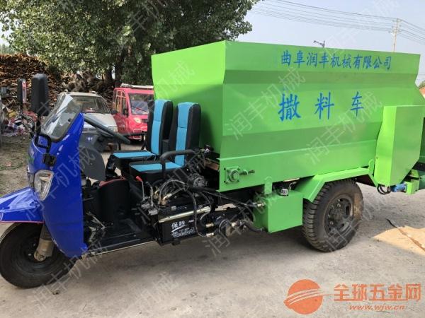 驴场饲养撒料车 顺平县操作简单的电动喂料车