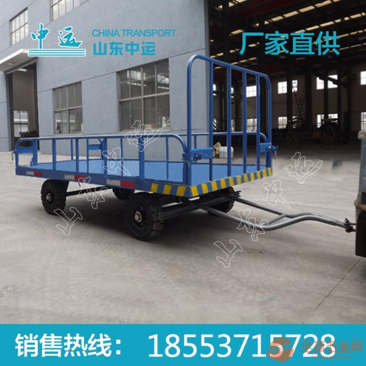 3T带护栏式平板拖车规格 中运3T带护栏式平板拖车价格