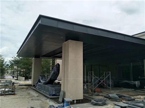 铝单板包钢结构雨棚 遮阳避雨门头雨棚铝单板