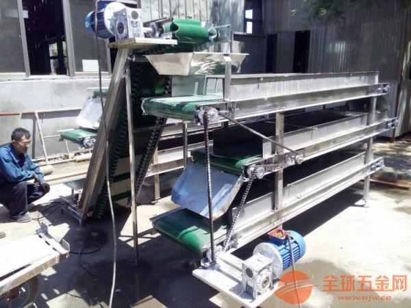 快递分拣输送机 全铝型材皮带机 六九重工 新型上料爬