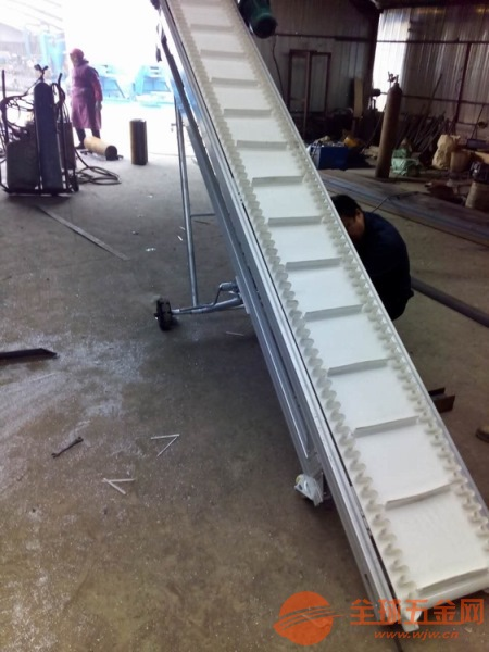 防滑爬坡挡边输送机带防尘罩 矿石输送机