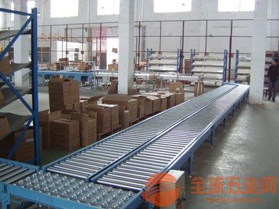 淮南动力辊筒输送机 碳钢喷塑水平输送滚筒线