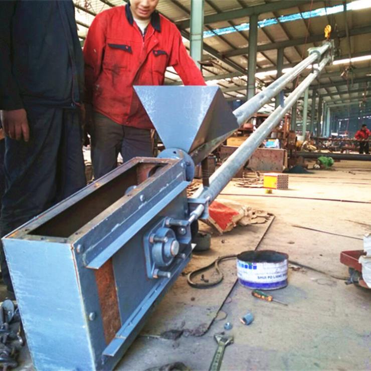 矿粉输送机 垂直石灰粉上料机 六九重工 矿粉管链输送
