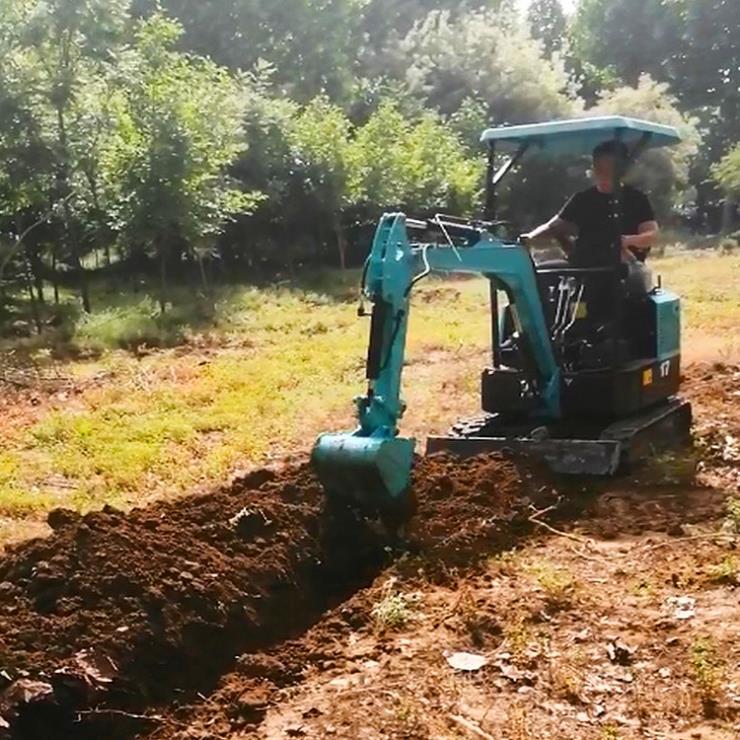 挖掘机厂家/倾斜管链输送机/兴运输送地面破碎用小型挖