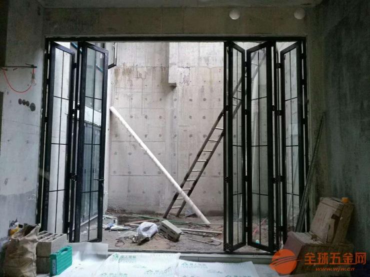 海口铝合金折叠门厂家,窄边折叠门,重型折叠门