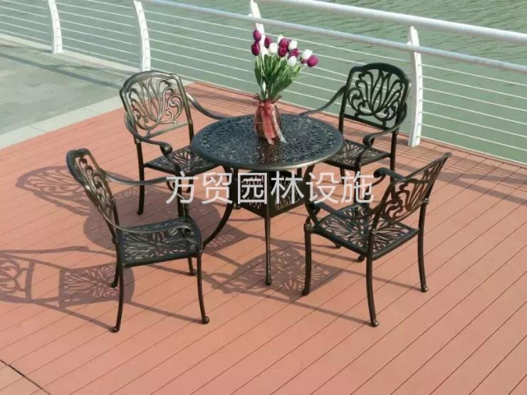 欧式铸铝桌椅套装价格便宜款式齐全方贸园林设施公司