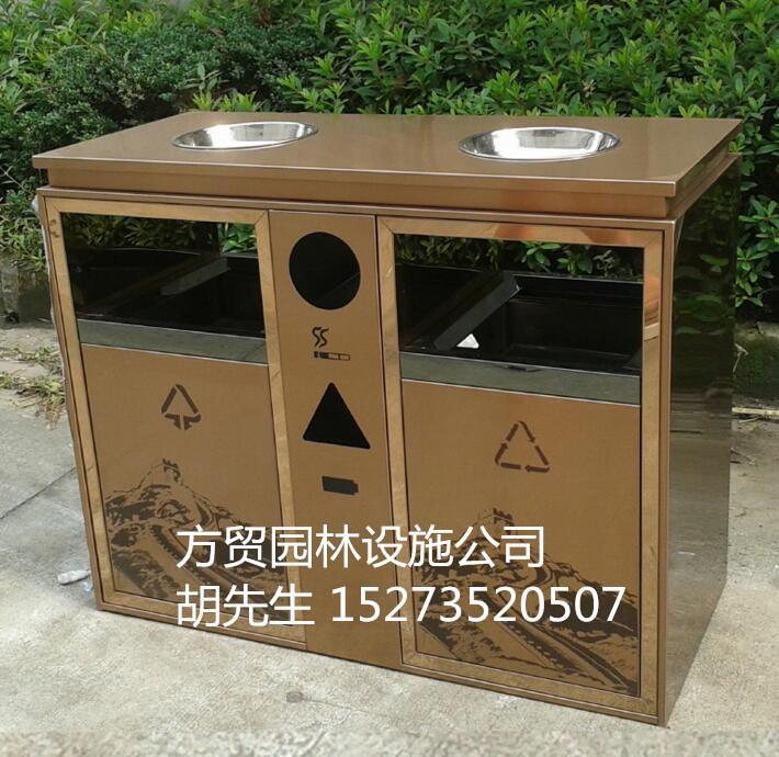 户外公共环保垃圾桶;不锈钢分类垃圾桶