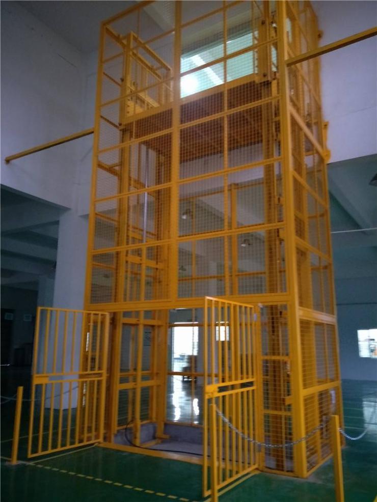 液压式升降货梯超安全双油缸/丽江工厂安装使用