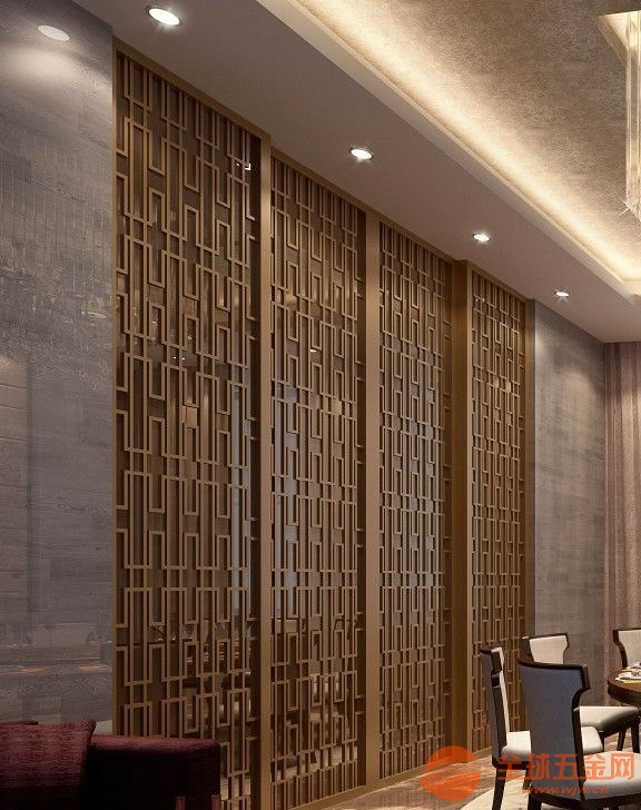 湛江定制铝合金折叠屏风铸铝仿铜组合隔断工厂直销价格合理
