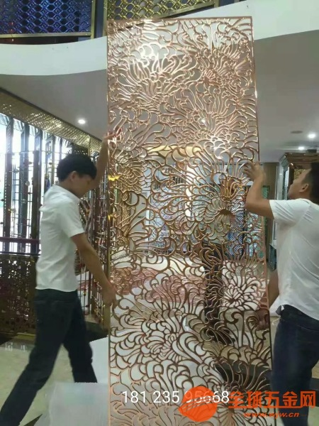 南通不锈钢金属雕刻风铝雕屏风供应厂家售后服务完善