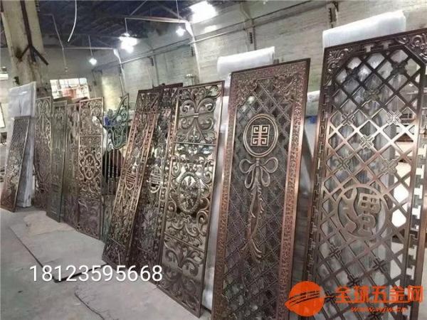广州铝合金中国风花格价格铸铝仿铜中国风屏风供应厂家售后服务完善