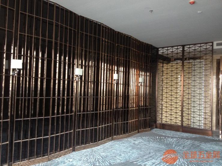 福州铝板雕刻古铜色铝屏风仿古铜铝隔断厂家专业定制合理报价