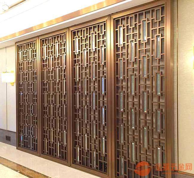 汕尾镂空屏风铸铝仿铜中国风屏风多种规格可订做