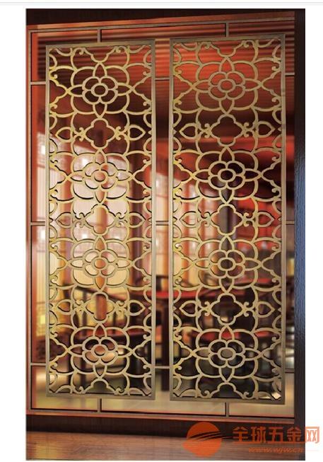 汕尾酒店古铜不锈钢屏风酒店大堂仿古铜花格厂家选料精良质量可靠