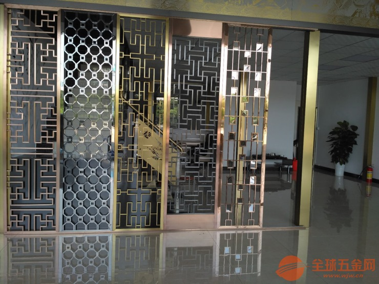 厦门定制铝合金折叠屏风铸铝仿铜组合隔断厂家直营价格低