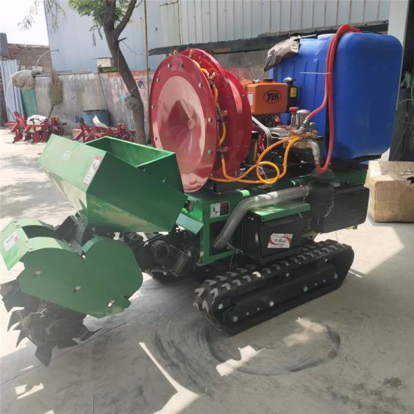 果园施肥开沟机 自走式松土犁地机 翻土整地田园管理机