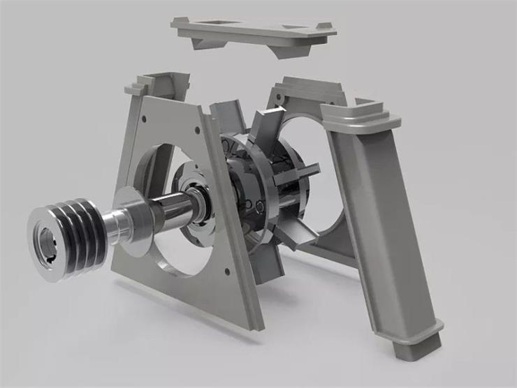 抛丸机高铬叶片/铝膜板抛丸机配件/山东抛丸机维修