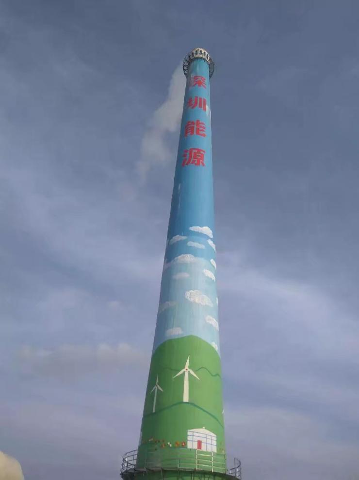 江西烟囱人工绘画厂家队伍欢迎您高空作业