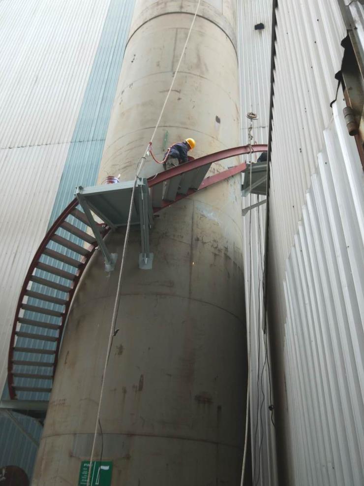 九江砖烟囱安装折梯公司√行业铁军丨安全工艺