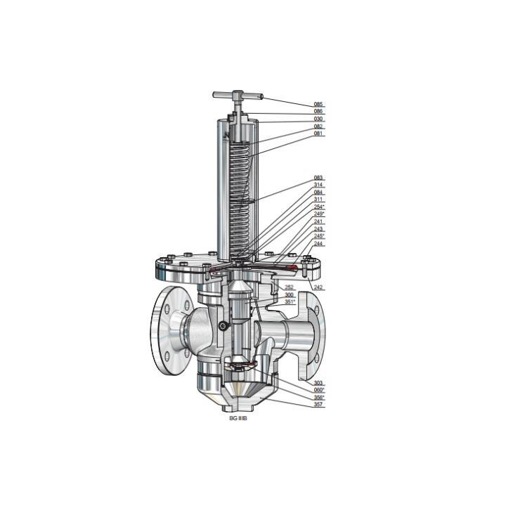 德国Niezgodka不锈钢减压阀Type70系列用于加氢机