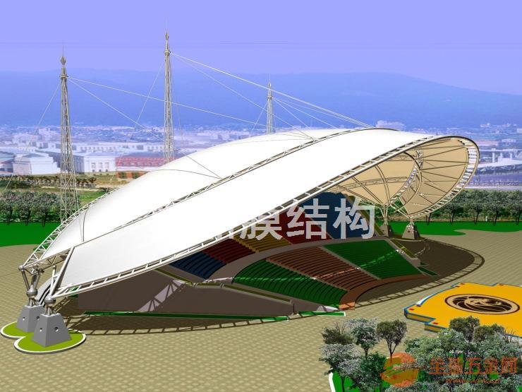 【大型遮阳棚膜结构舞台】大跨度舞台膜结构