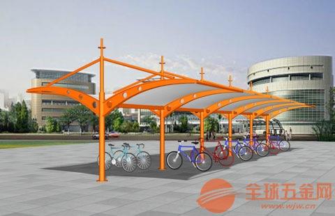 【膜结构车棚厂家】炭素结构钢自行车棚