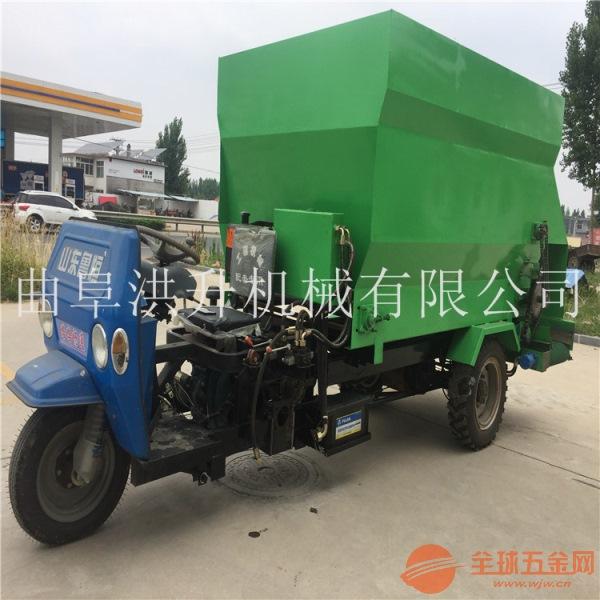 青贮草料粉碎搅拌撒料车环保节能型投料车