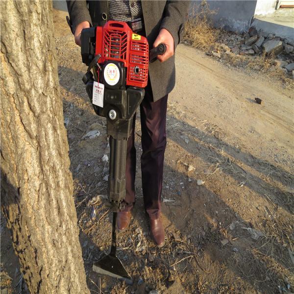 遼源手提挖樹機操作視頻單人操作起苗機