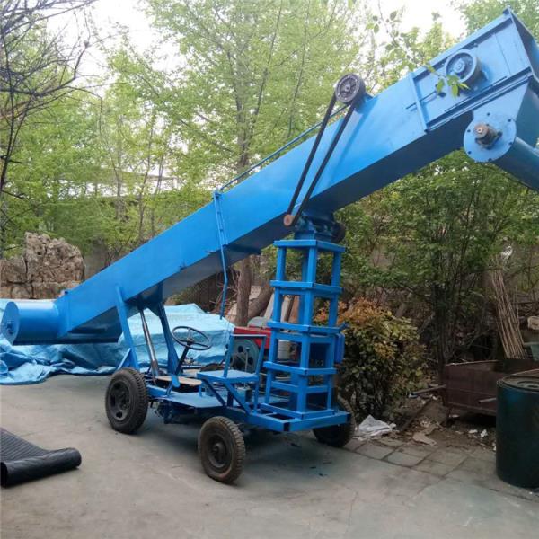 柴油動力行走式扒谷機農用馬路收糧機散糧裝車機