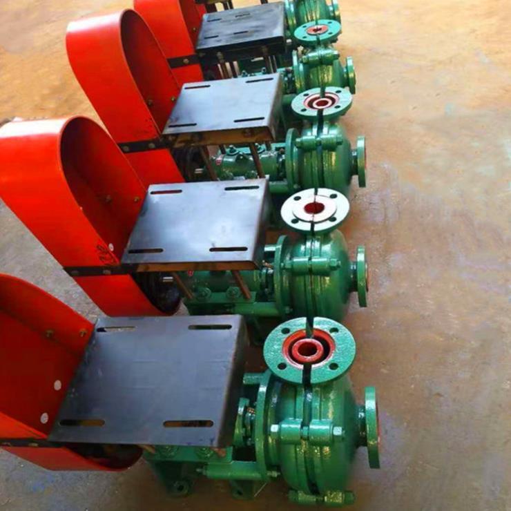 山东冠县泥沙脱水渣浆泵安装细节图+磷镁矿渣浆泵
