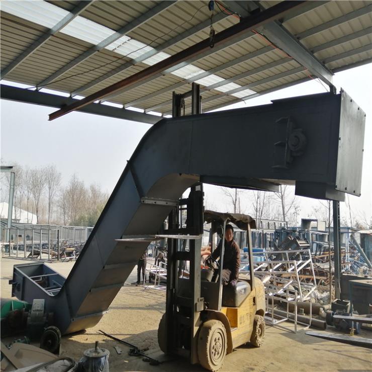 耐高温双板链刮板输送机 可转向煤渣刮板式上料机Lj3