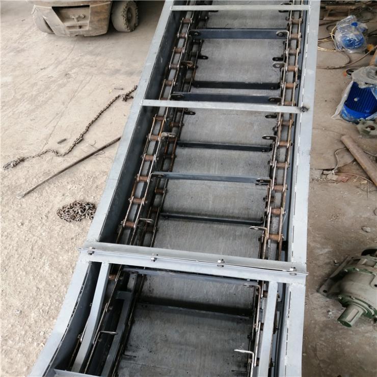 不锈钢刮板式输送机 双环链大米尿素刮板式喂料机Lj3
