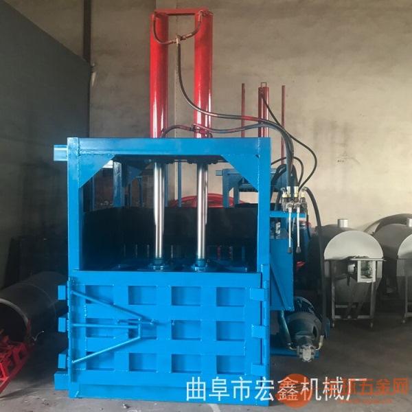 立式编织袋压缩机 纸壳压扁机 10吨薄膜压缩机