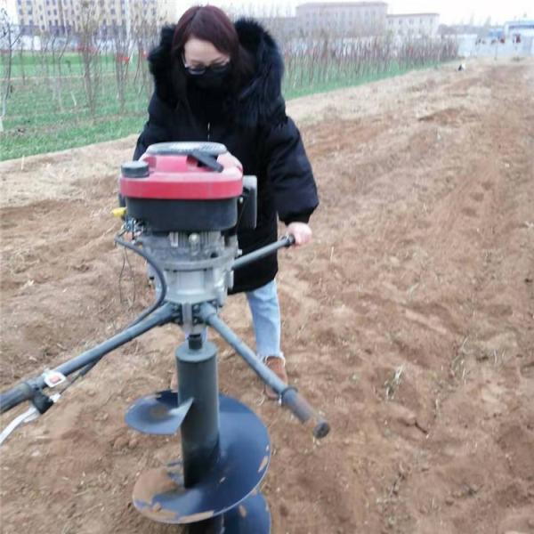 南平 手提式打孔挖穴机 水泥管汽油挖坑机