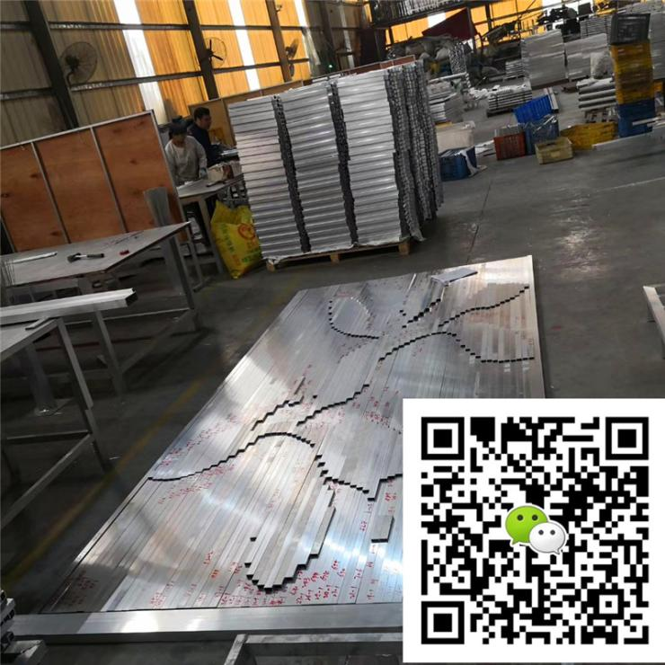 高信誉铝方通厂家岳阳铝方管型号规格表安装节点图