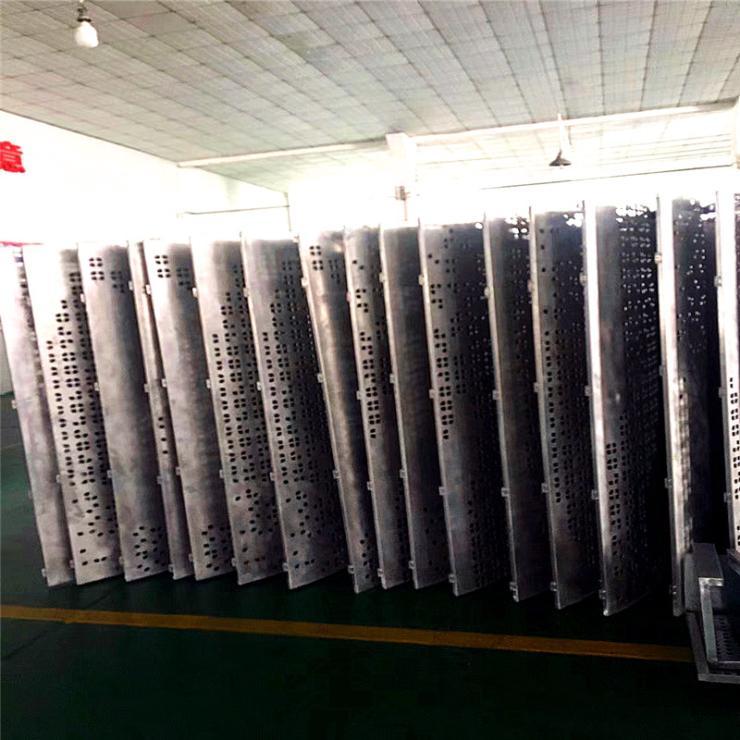 10mm鋁浮雕板-電鍍仿古銅鋁屏風安裝節點圖