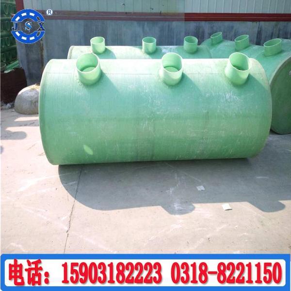 淮北农村缠绕玻璃钢化粪池,马鞍山玻璃钢化粪池10立方