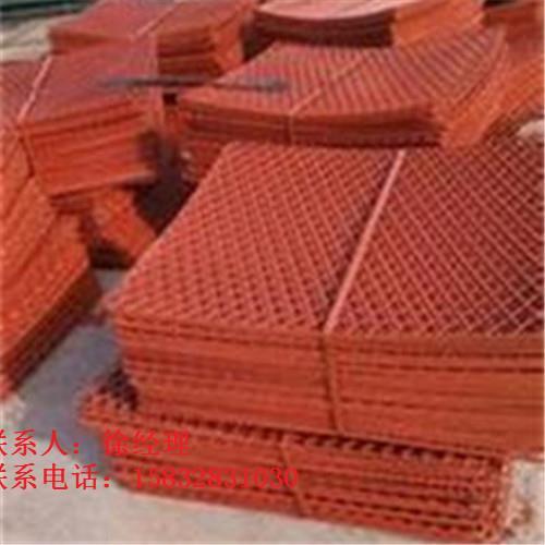 碳钢冲压菱形喷漆网片生产厂家-钢笆片样品