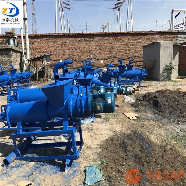 养殖场化粪池粪便压榨脱水机固液分离机时产量高青海