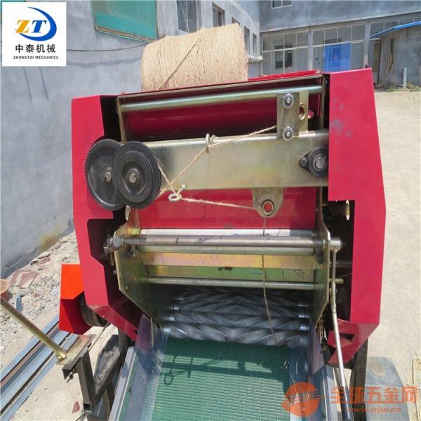 玉米秸秆青贮打包机玉米青饲料打捆包膜机全自动秸秆打捆机