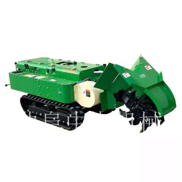低矮果树施肥机自驾式的开沟机履带式多功能田园管理机