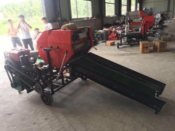 拖拉机带捡草打捆机中泰青贮打捆包膜机牧草储备打包机